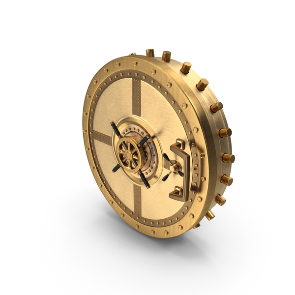 Safe: Golden Vault Door PNG & PSD Images