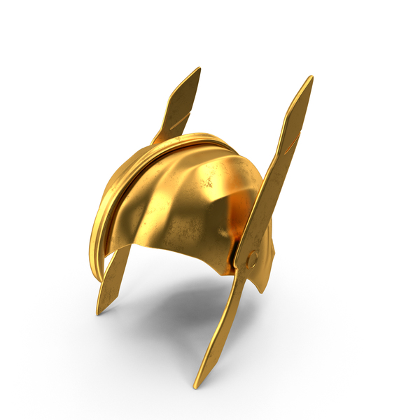 Golden Warrior Helmet PNG & PSD Images