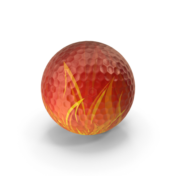Golf Ball Flame Textured PNG & PSD Images