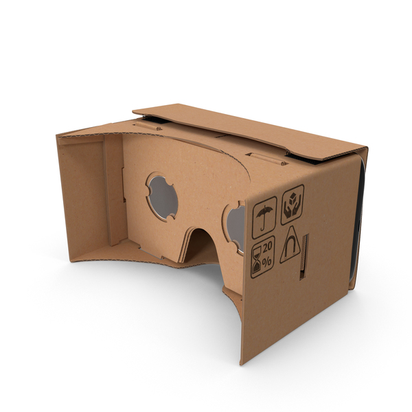 Virtual Reality Goggles: Google Cardboard Headset Object
