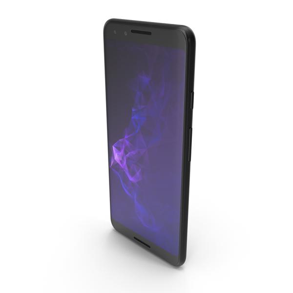 Smartphone: Google Pixel 3 Black PNG & PSD Images
