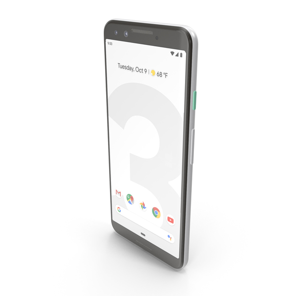 Google Pixel 3 Clearly White PNG & PSD Images