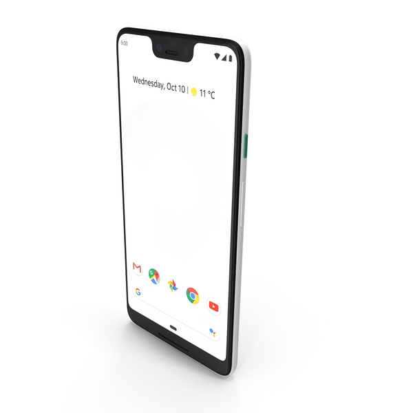 Google Pixel 3 XL Clearly White PNG & PSD Images