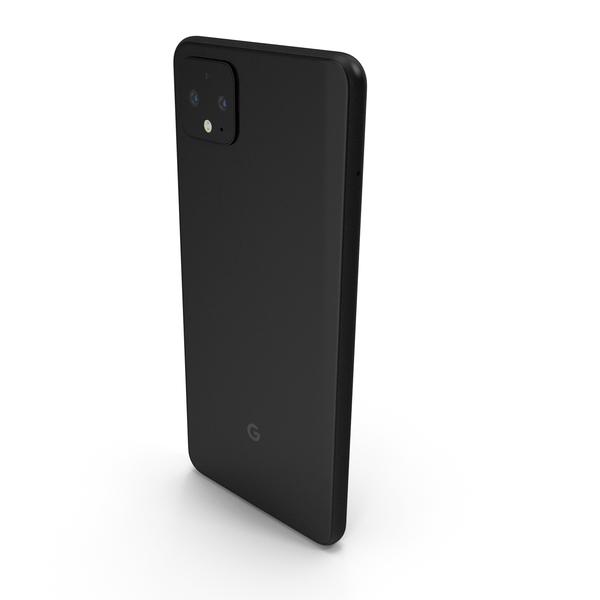 Google Pixel 4 XL Just Black PNG & PSD Images