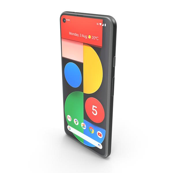Smartphone: Google Pixel 5 Just Black PNG & PSD Images