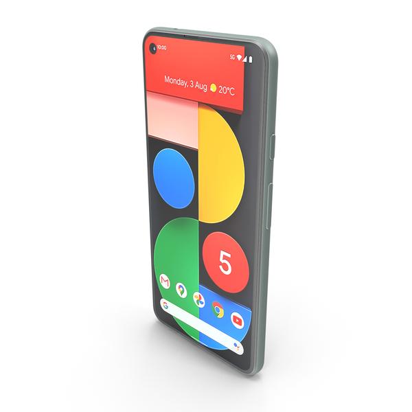 Smartphone: Google Pixel 5 Sorta sage PNG & PSD Images