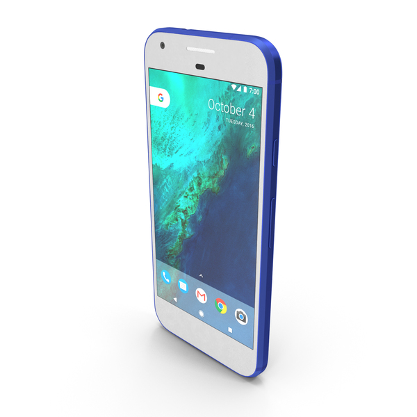 Smartphone: Google Pixel Really Blue PNG & PSD Images