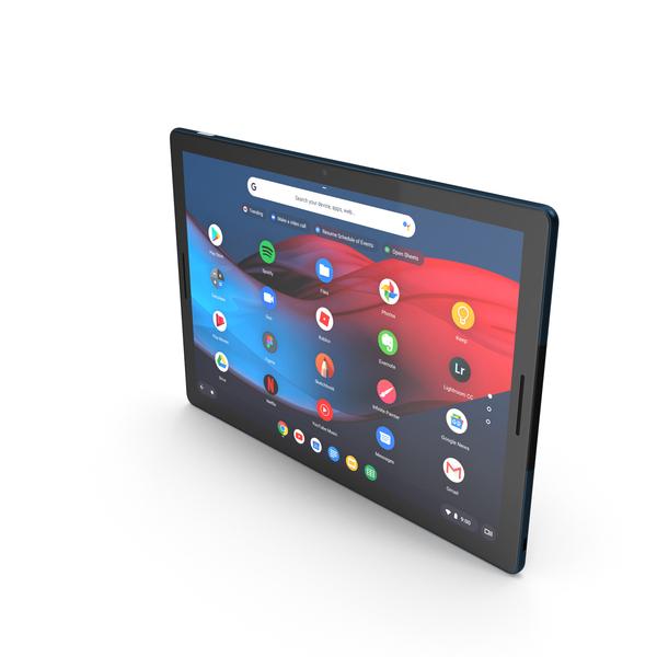 Google Pixel Slate Tablet with Pen PNG & PSD Images