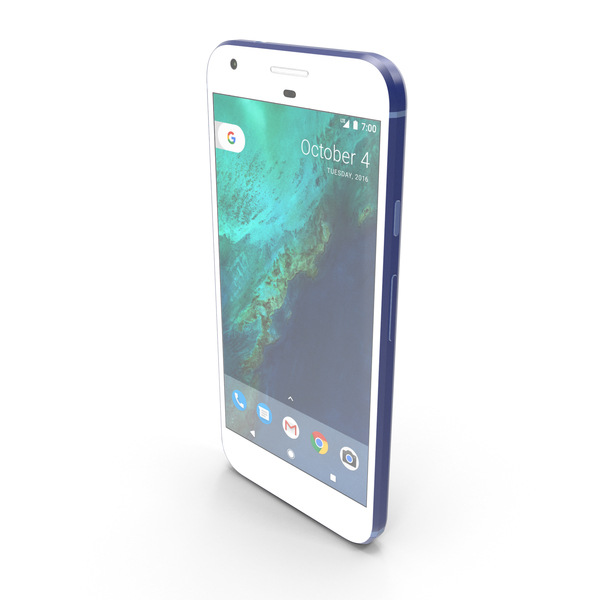 Smartphone: Google Pixel XL Really Blue PNG & PSD Images