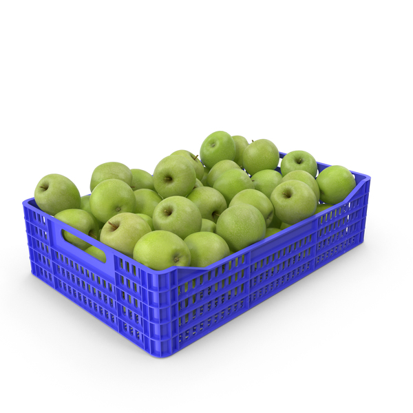Granny Smith Apple Crate PNG & PSD Images