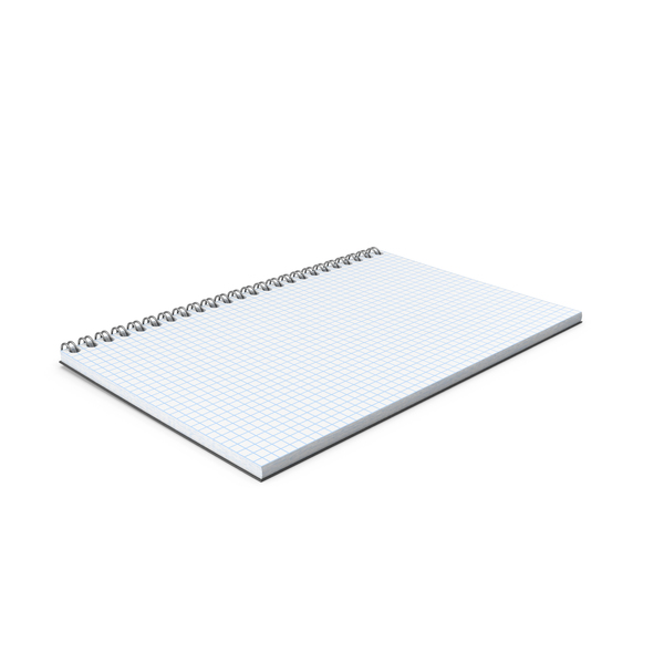 Graph Paper Notebook Object
