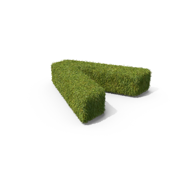 Topiary: Grass Angle Bracket Symbol on Ground PNG & PSD Images