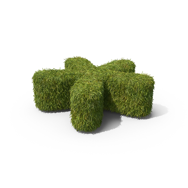 Topiary: Grass Asterisk Symbol on Ground PNG & PSD Images