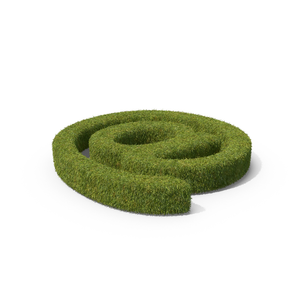 Punctuation: Grass At Symbol PNG & PSD Images