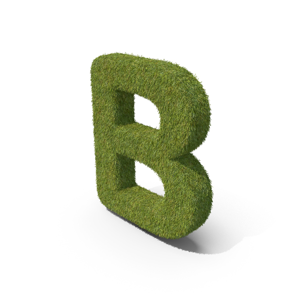 Grass Capital Letter B PNG & PSD Images