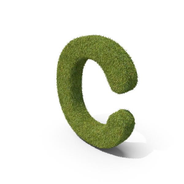 Language: Grass Capital Letter C PNG & PSD Images