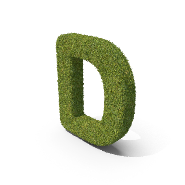 Grass Capital letter D PNG & PSD Images