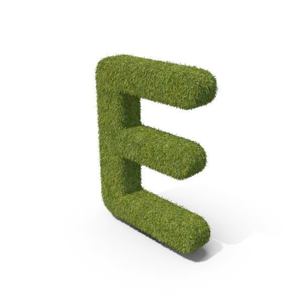 Grass Capital Letter E PNG & PSD Images