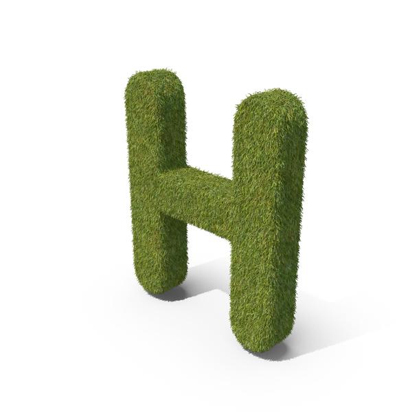 Language: Grass Capital letter H PNG & PSD Images