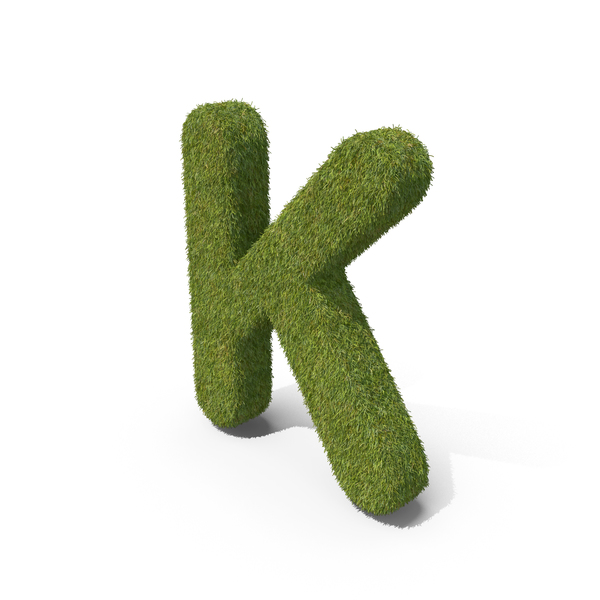 Grass Capital Letter K PNG & PSD Images