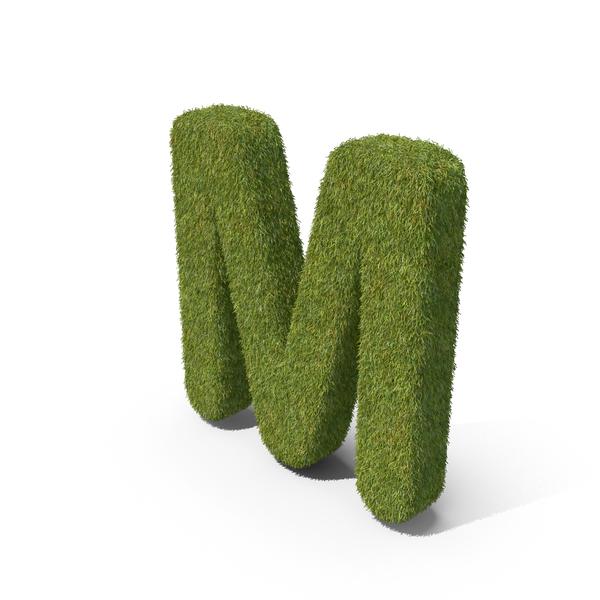Symbols: Grass Capital Letter M PNG & PSD Images