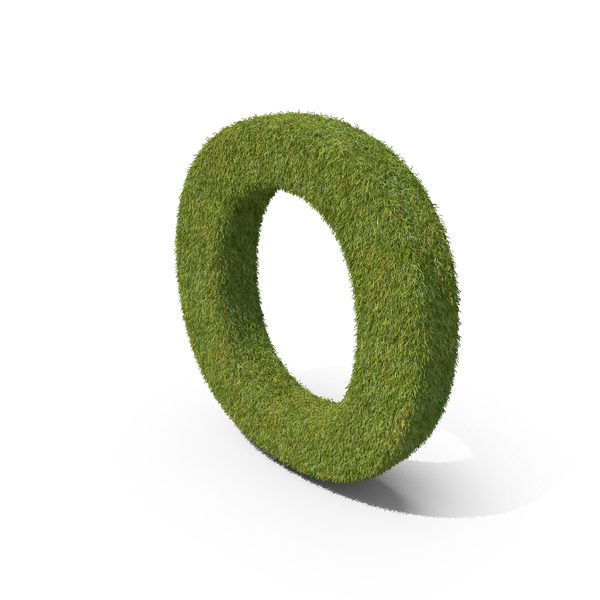 Grass Capital Letter O PNG & PSD Images