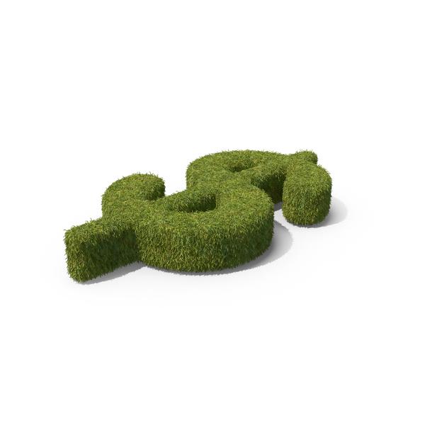 Grass Dollar Symbol PNG & PSD Images