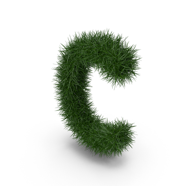 Grass Letter C PNG & PSD Images