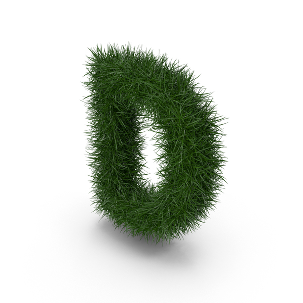 Grass Letter D PNG & PSD Images