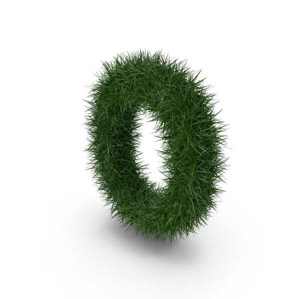 Grass Letter O PNG & PSD Images