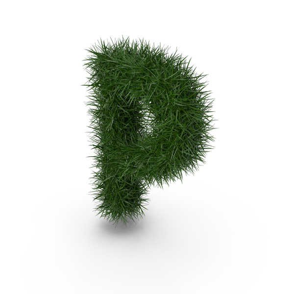 Grass letter P PNG & PSD Images