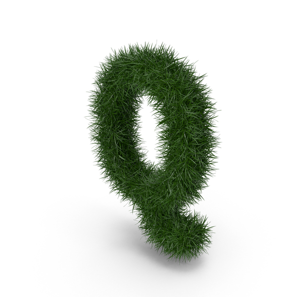 Grass letter Q PNG & PSD Images