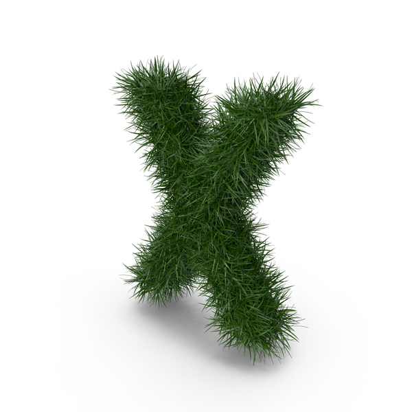 Grass letter X PNG & PSD Images