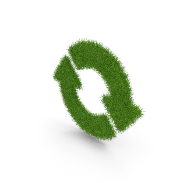 Logo: Grass Recycle Sign PNG & PSD Images