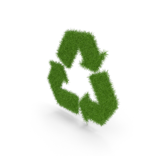 Logo: Grass Recycle Symbol PNG & PSD Images