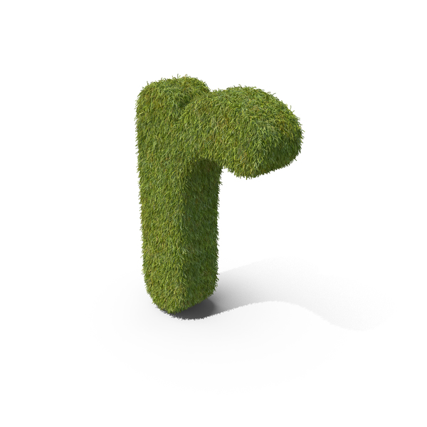 Grass Small Letter R PNG & PSD Images