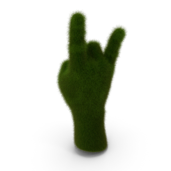 Gestures: Grassy Hand Rock N Roll PNG & PSD Images