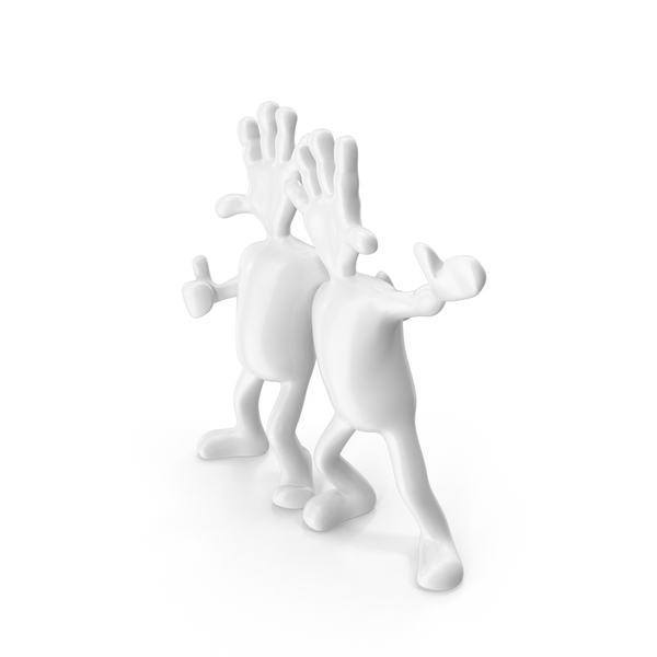 Gray Abstract Figurine Friends PNG & PSD Images