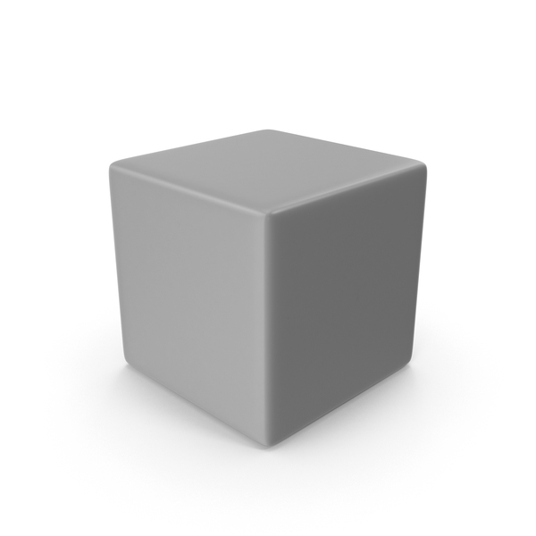 Gray Cube PNG & PSD Images