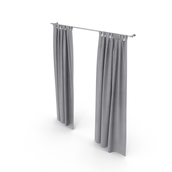 Gray Curtains PNG & PSD Images