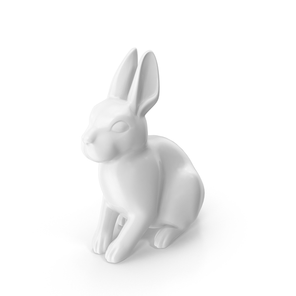 Gray Rabbit Figurine PNG & PSD Images