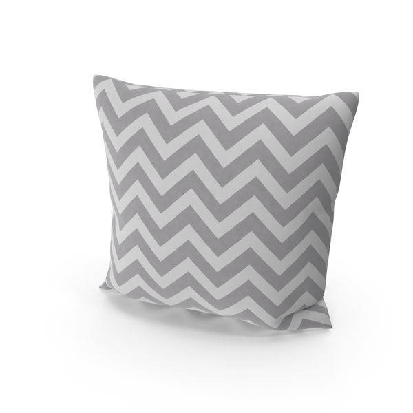 Gray Striped Throw Pillow Object