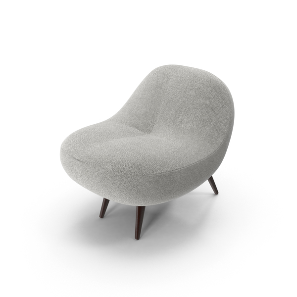 Lounge: Gray Super Plush Chair PNG & PSD Images