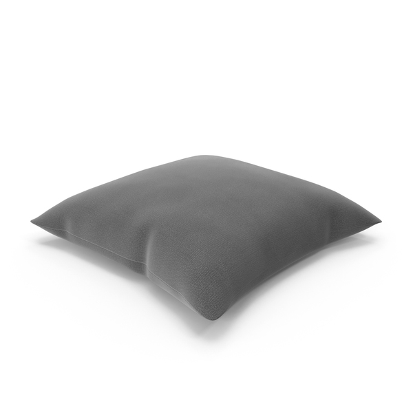 Gray Throw Pillow Object
