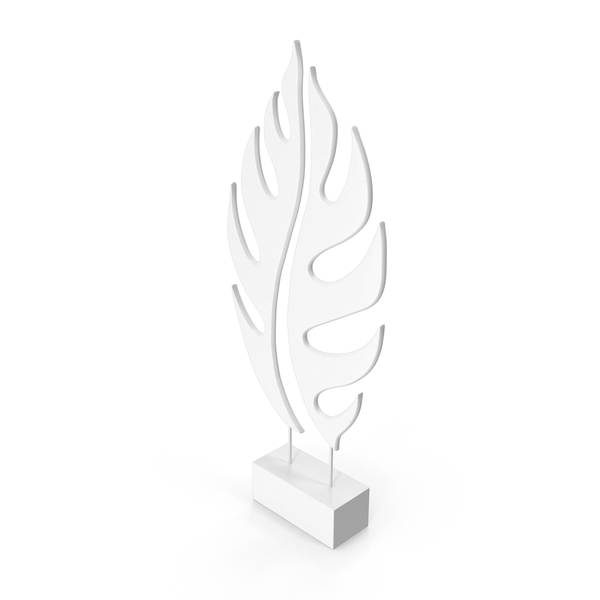 Gray Tree Leaf Sculpture PNG & PSD Images