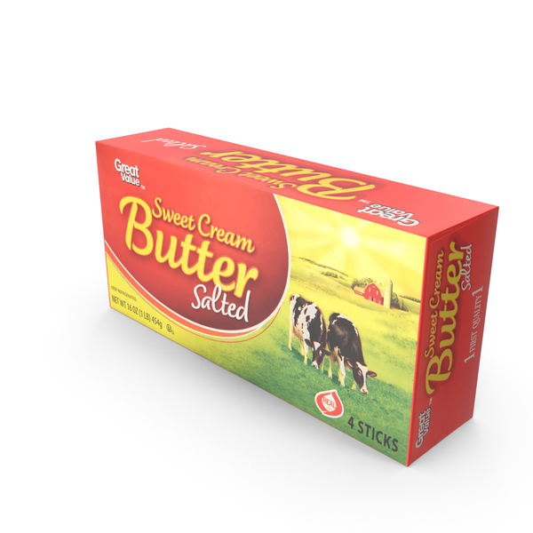 Great Value Sweet Cream Butter PNG & PSD Images