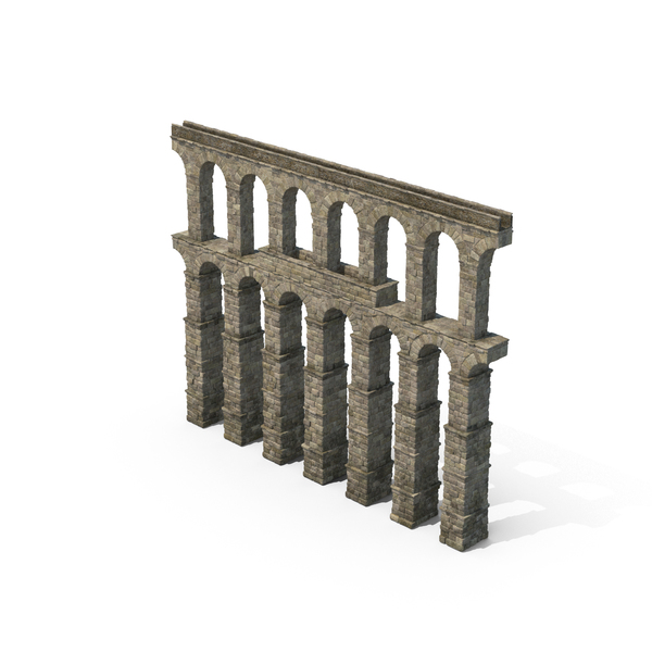 Greco-Roman Aqueduct Section PNG & PSD Images