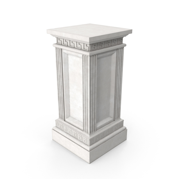 Greco-Roman Column Base PNG & PSD Images