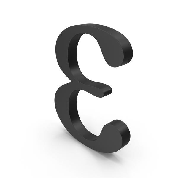 Alphabet: Greek Letter Epsilon PNG & PSD Images