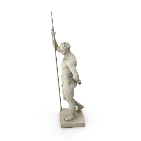 Greek Soldier Sculpture PNG & PSD Images